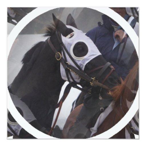 Invitation de cheval de course carton d'invitation  13,33 cm