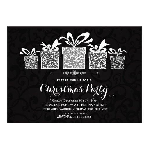 Invitation de Chrismas de cadeau d'étincelle
