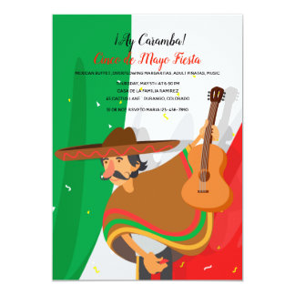 Invitation de Cinco De Mayo de mariachi