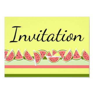 Invitation de classique de rayure de pastèque