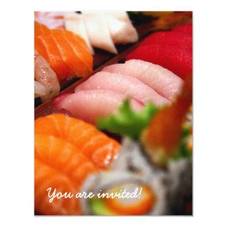 Invitation de collection de sushi du Japon