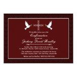 Invitation de colombe de blanc de confirmation