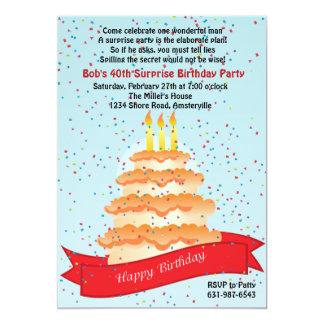 Invitation de confettis d'anniversaire carton d'invitation  12,7 cm x 17,78 cm