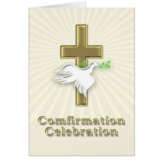 Invitation de confirmation avec une croix d'or