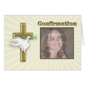 Invitation de confirmation de photo avec une croix