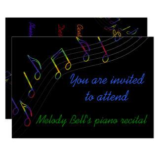 Invitation de considérant de musique