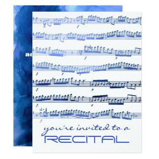 invitation de considérant de musique de bleu