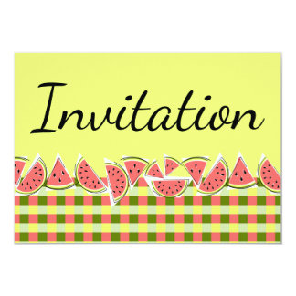 Invitation de contrôle de pastèque