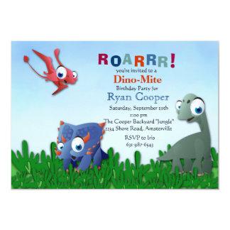Invitation de copains de dinosaure