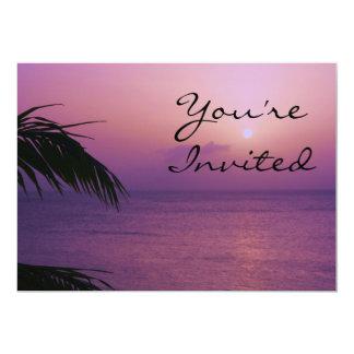 Invitation de coucher du soleil de paradis