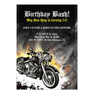 Invitation de coup d anniversaire de route de mota