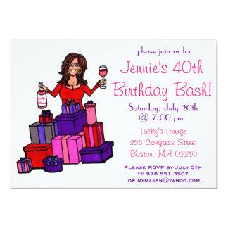 Invitation de coup d'anniversaire carton d'invitation  11,43 cm x 15,87 cm