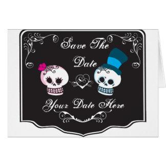 Invitation de couples de crâne carte de vœux