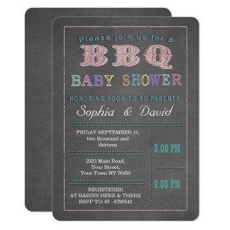 Invitation de coutume de barbecue de baby shower