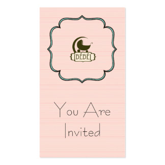 Invitation de coutume de Bébé Carte De Visite Standard