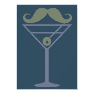 Invitation de coutume de moustache de Martini