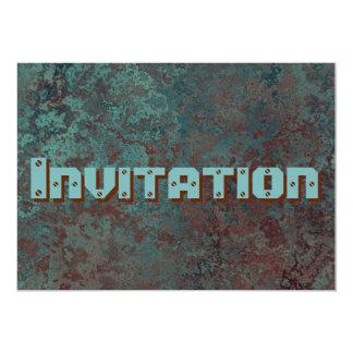 """Invitation """"de cuivre"""" d'impression de corrosion"""