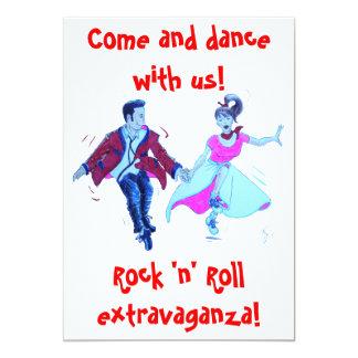 invitation de danse de rock d'oscillation