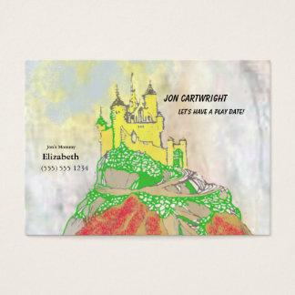 Invitation de date de jeu de château avec de photo