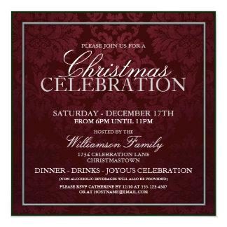 Invitation de dîner de célébration de Noël
