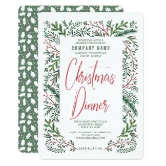 Invitation de dîner de Christmas Holiday Party