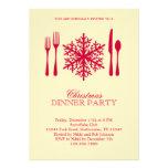 Invitation de dîner de Noël de couvert
