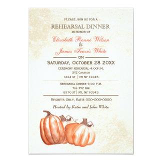 Invitation de dîner de répétition d'automne de