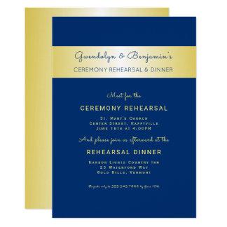 Invitation de dîner de répétition de cérémonie de