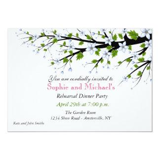 Invitation de dîner de répétition de fleurs de