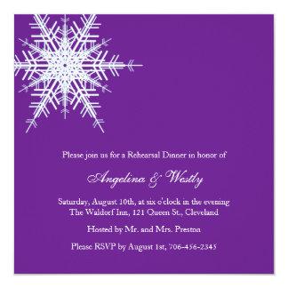 Invitation de dîner de répétition de mariage carton d'invitation  13,33 cm