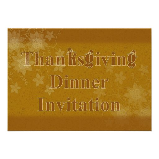 Invitation de dîner de thanksgiving avec des chape