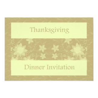 Invitation de dîner de thanksgiving avec des