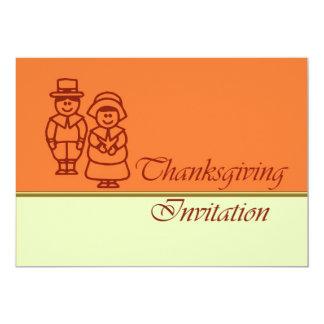 Invitation de dîner de thanksgiving avec des carton d'invitation  12,7 cm x 17,78 cm