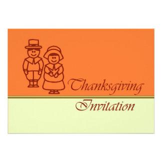 Invitation de dîner de thanksgiving avec des pèler