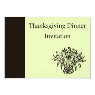 Invitation de dîner de thanksgiving avec la carton d'invitation  12,7 cm x 17,78 cm