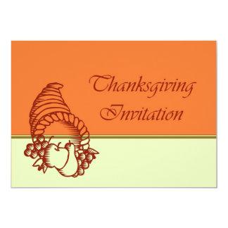 Invitation de dîner de thanksgiving avec la corne carton d'invitation  12,7 cm x 17,78 cm