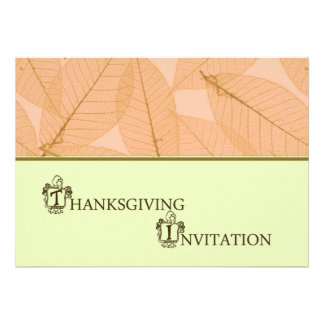 Invitation de dîner de thanksgiving avec la dinde