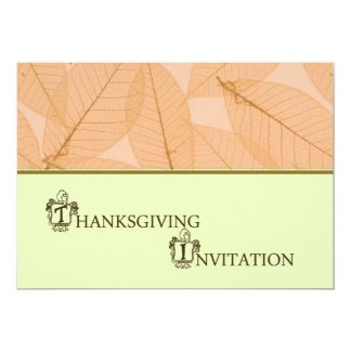 Invitation de dîner de thanksgiving avec la dinde carton d'invitation  12,7 cm x 17,78 cm