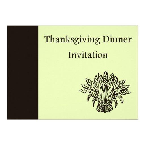 Invitation de dîner de thanksgiving avec la récolt