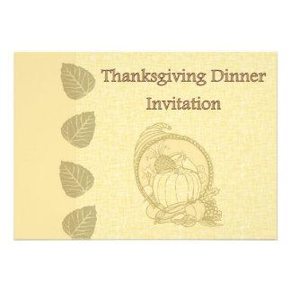 Invitation de dîner de thanksgiving avec le cornac