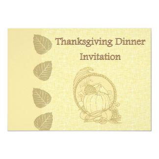 Invitation de dîner de thanksgiving avec le carton d'invitation  12,7 cm x 17,78 cm