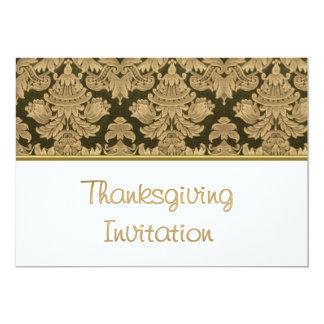 Invitation de dîner de thanksgiving avec le motif