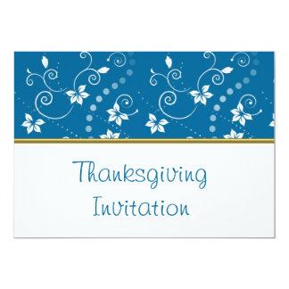 Invitation de dîner de thanksgiving avec le motif carton d'invitation  12,7 cm x 17,78 cm