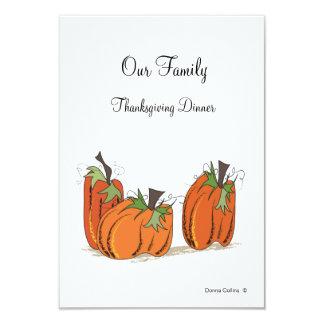 Invitation de dîner de thanksgiving de Familyn