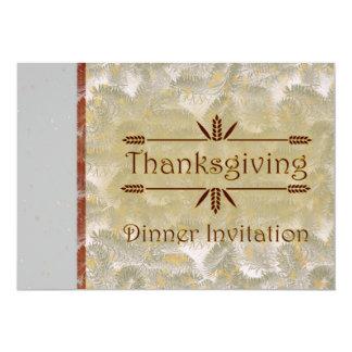 Invitation de dîner de thanksgiving pour le carton d'invitation  12,7 cm x 17,78 cm