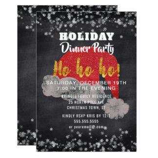 Invitation de dîner de vacances de Père Noël de