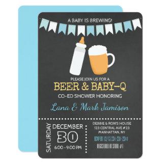 Invitation de douche de bière de BBQ de Bébé-q