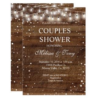 Invitation de douche de couples d'hiver