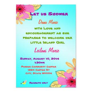 Invitation de douche de fille d'île