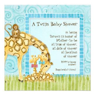 Invitation de douche de jumelles de fille de bébé